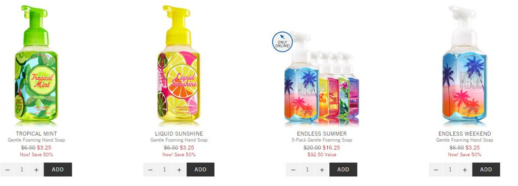 bath and body works hand soap sale