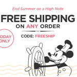 disney store free shipping september 2016