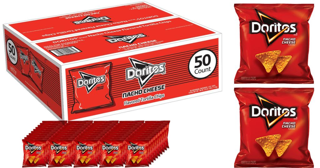 Amazon 50 Pack Of Doritos Chips Only 6 63 Each Shipped
