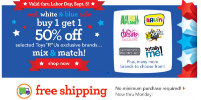 toys r us red white and blue sale