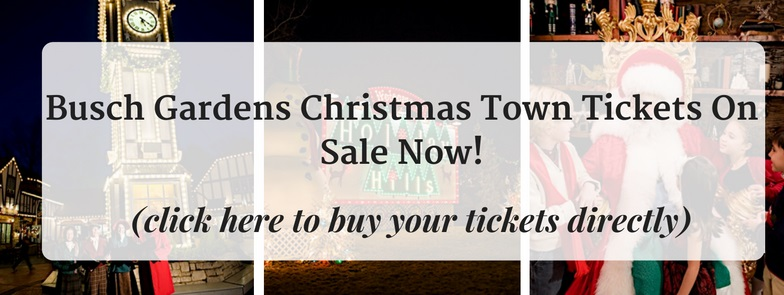 Buy your christmas town tickets now lowest prices of the for Bush gardens tickets