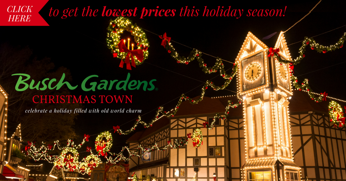Busch gardens christmas town coupon plus all the new fun stuff for 2016 Busch gardens promo code 2017