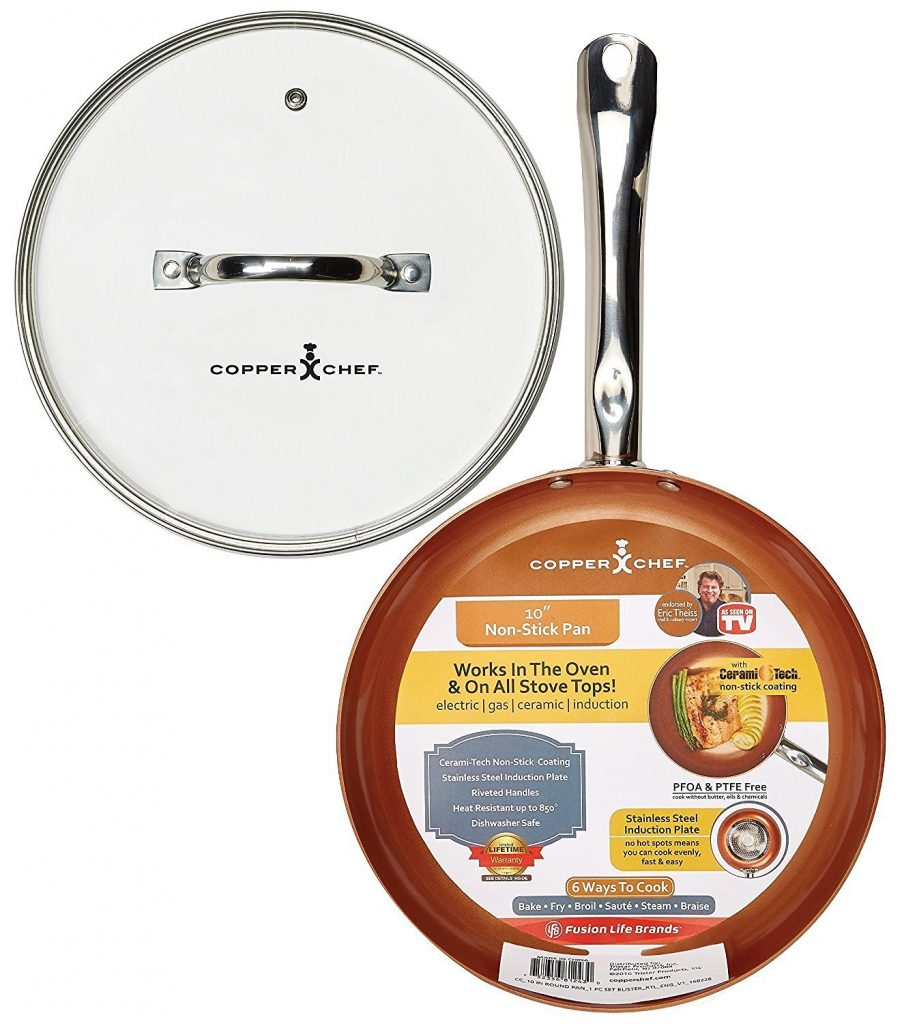Amazon Copper Chef Round Pan With Glass Lid 10 For 19 99