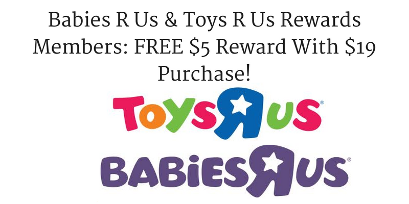 Babies R Us & Toys R Us Rewards Members: FREE $5 Reward ...