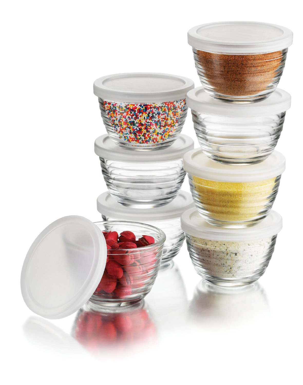 Amazon: Libbey 16 Piece(8 Glass Bowls U0026 8 Lids) 6.25 Ounce Glass Bowl Set  $11.52