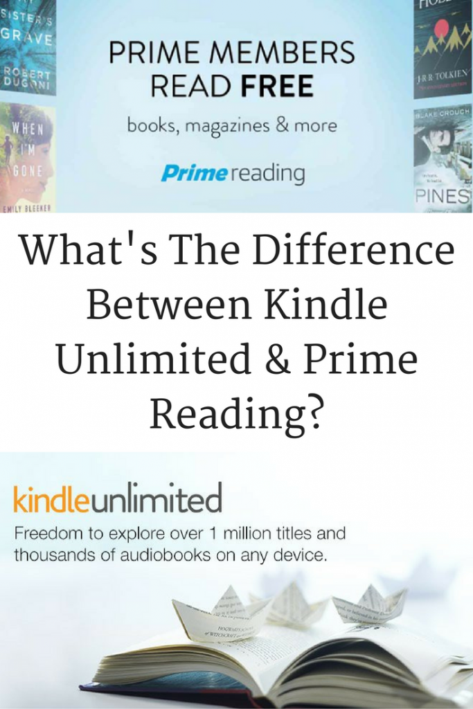 Whats The Difference Between Kindle Unlimited & Prime Reading- A clear list comparing the benefits of Kindle Unlimted and Amazon Prime Reading.