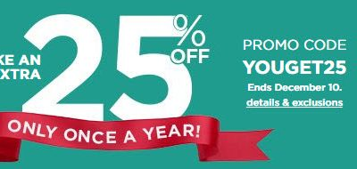 ONCE A YEAR At Kohl's! Everyone Saves 25%! HOT D...