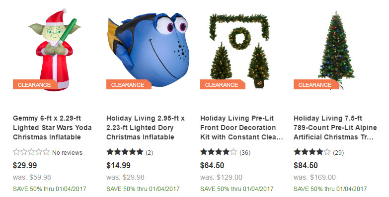 lowes clearance - Lowes Christmas Clearance
