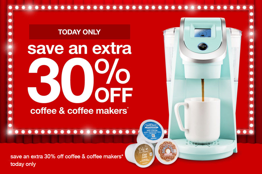 Starbucks Coffee Maker Target : Target: Double Dip Savings on Starbucks Coffee Today Only- No Coupons Needed!