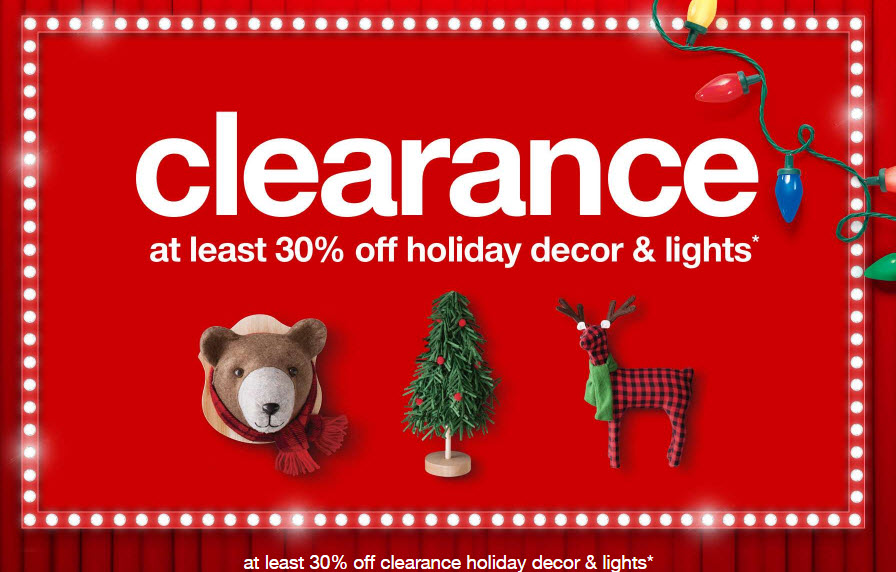 Target Holiday Cleanrance