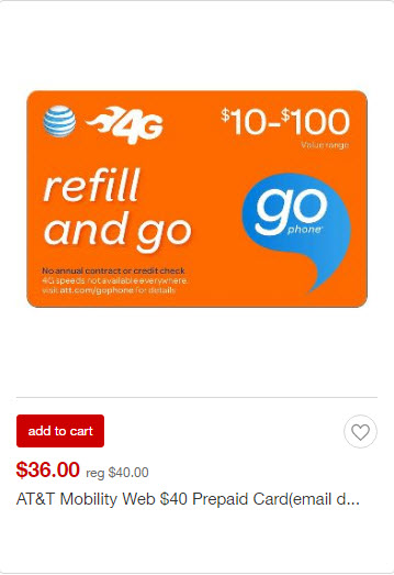 Target Prepaid Cards: T-Mobile, AT&T, Boost, Cricket