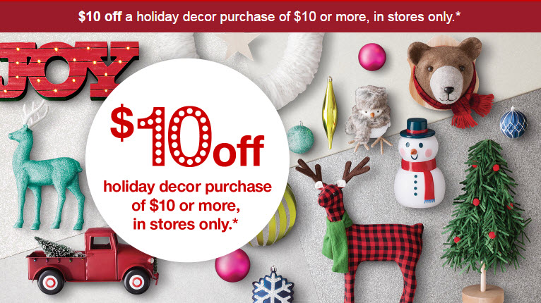 Check For An E Mail From Target 10 Off Of 10 Holiday Decor Purchase