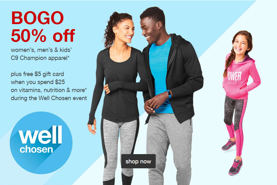 5e5be763fa Target: Buy One Get One 50% Off C9 Athletic Clothing (Including Sports Bras)