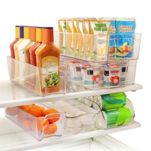 Amazon Greenco 6 Piece Refrigerator and Freezer Stackable Storage Organizer Bins with Handles Clear $31.24  sc 1 st  A Frugal Chick : fridge storage bins  - Aquiesqueretaro.Com