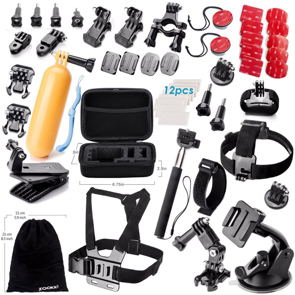 amazon accessories kit for gopro hero 5 4 3 3 2 1 only with great reviews. Black Bedroom Furniture Sets. Home Design Ideas