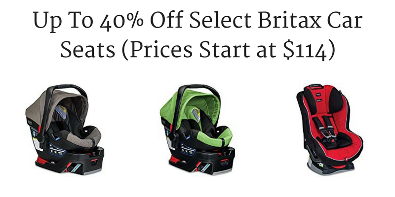 Amazon Up To 40 Off Select Britax Car Seats Prices Start At 114