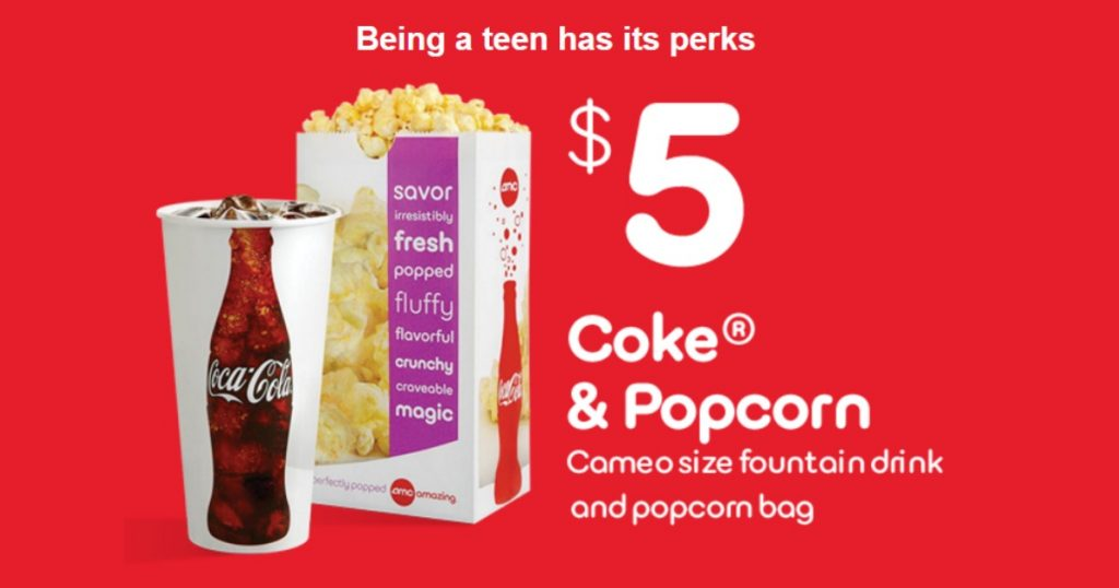 graphic relating to Amc Printable Coupons named AMC Theaters: Consume Popcorn Simply just $5 for Adolescents (College student Identification