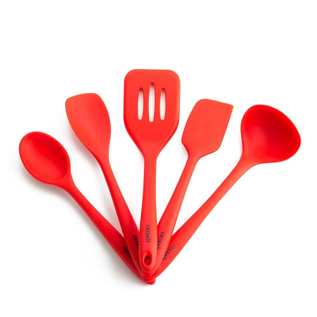 amazon lowest price: premium silicone kitchen utensil 5