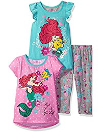 b8d02e60b ... Beauty and the Beast 3-Pack Short Sleeve T-Shirts  15.99 (Reg  40). Disney  Girls  3 Piece Ariel the Little Mermaid Printed Legging Set  15.20