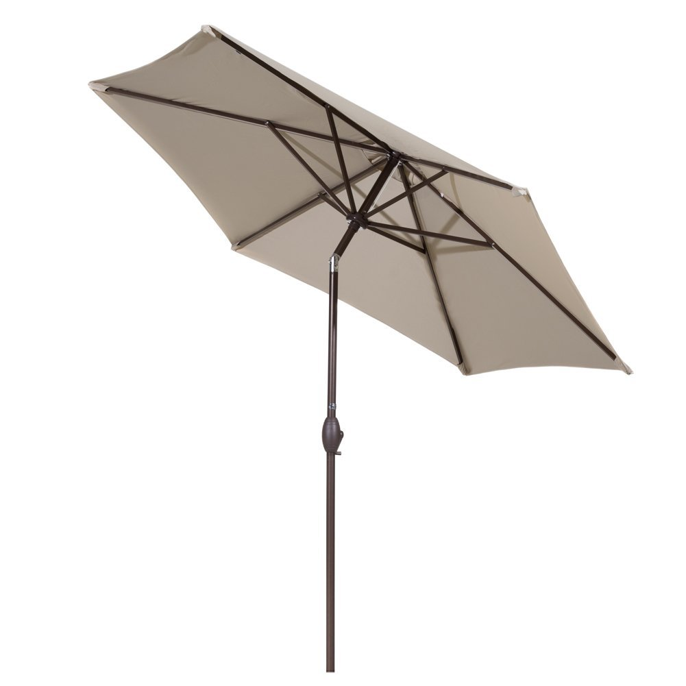 amazon 9 ft market outdoor aluminum patio umbrella with push button tilt and crank 49 - Amazon Patio Umbrella