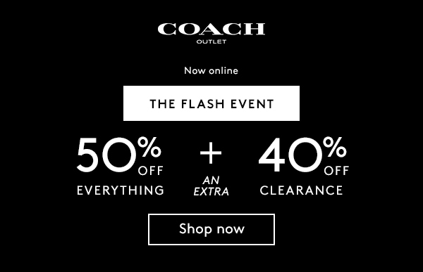 3be790699f6080 Coach Outlet: 50% Off Everything Plus Extra 40% Clearance
