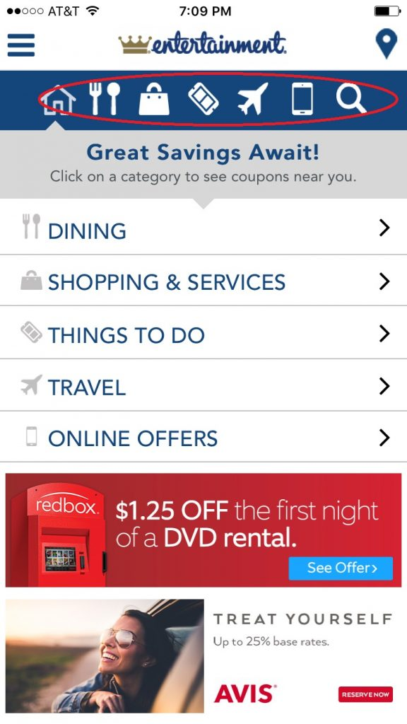 how to use the online entertainment coupon book
