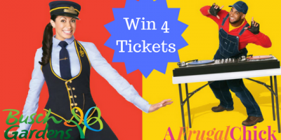 Win a Family Four Pack of Tickets to Busch Gardens...