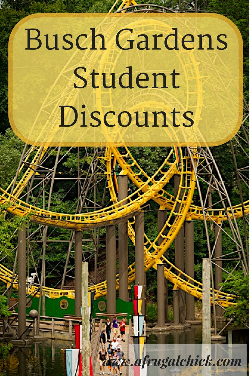 Busch gardens student discount for Busch gardens and water country usa packages
