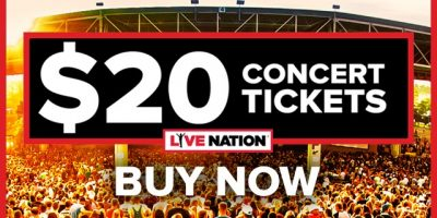 $20 Live Nation Concert Tickets Starting April 30t...