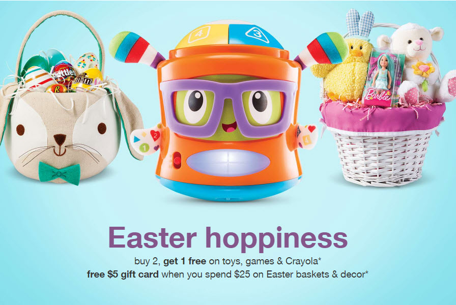 Target free 5 gift card with 25 easter purchase plus sales negle Images