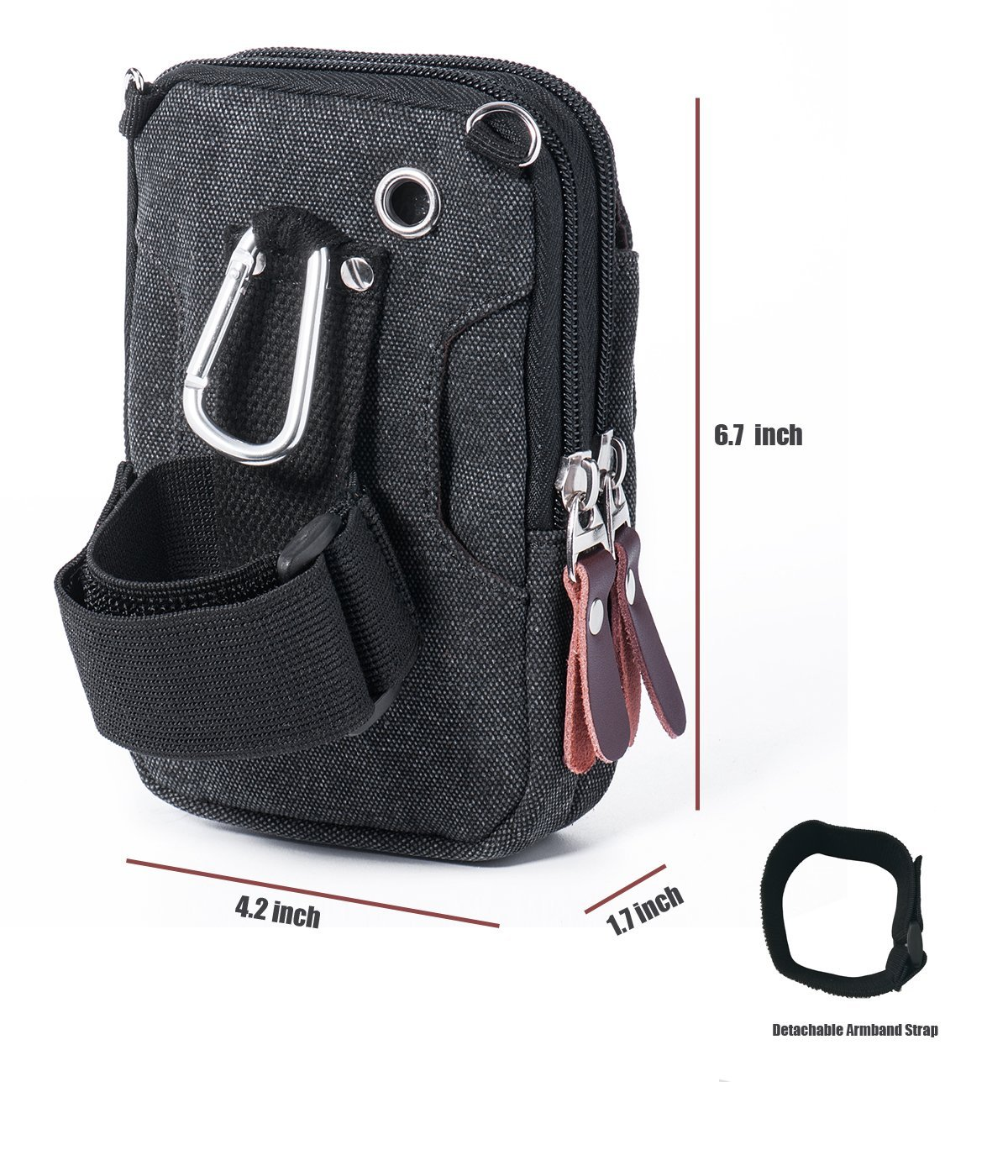 0e29ccaf5e Amazon  Cellphone Bag Holster Belt Waist Pouch Belt Loop Attachment with  Carabiner  5.92 With Coupon Code