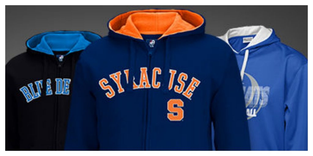 NCAA College Fleece Hoodies $14 99 (Reg  $40) + Free Shipping!