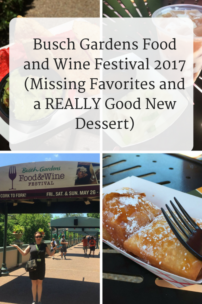 Busch gardens food and wine festival 2017 missing favorites and a or you can get the food wine festival deluxe food sampler and try 15 food wine festival entres drinks or dessert items for only 60 forumfinder