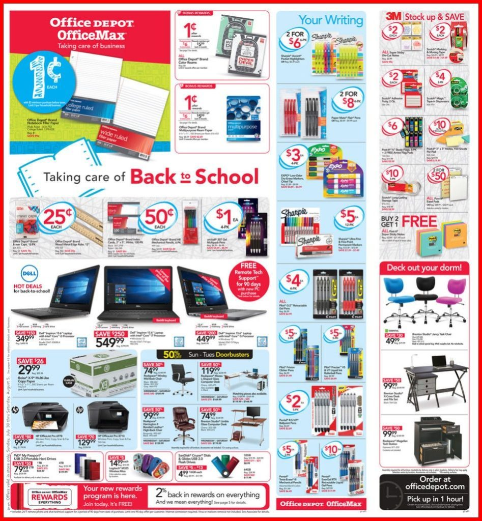 office max/depot back to school 2017: penny deals for the week of