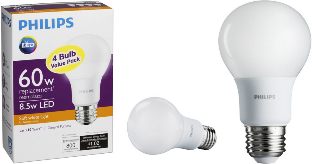 Best Buy Philips Led Light Bulb 60w Equivalent 4 Pack Only Regularly