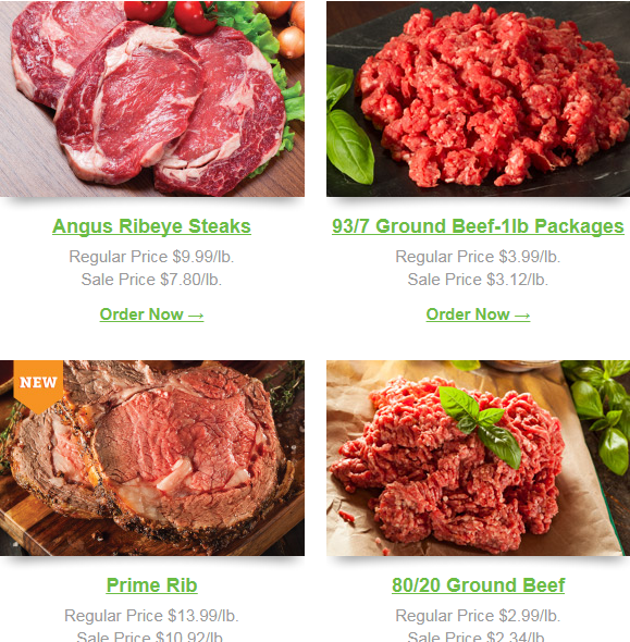 Save An Extra 22% Off Ribeye Steaks, Prime Rib and Ground Beef!