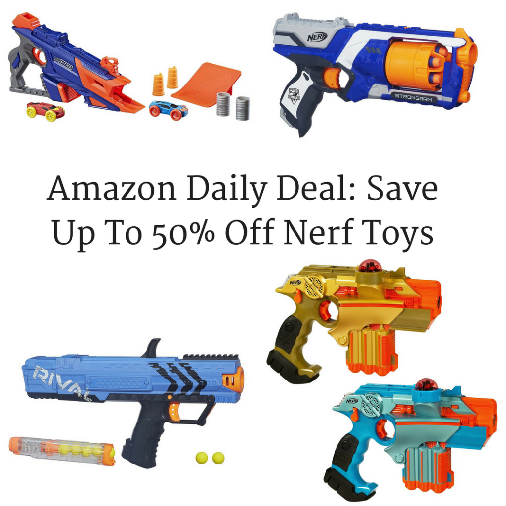 Hop on over to Amazon where they are hosting a Buy 1 Get 1 50% off sale on  select NERF Guns, making for some great deals! To see if the NERF blaster  you're ...