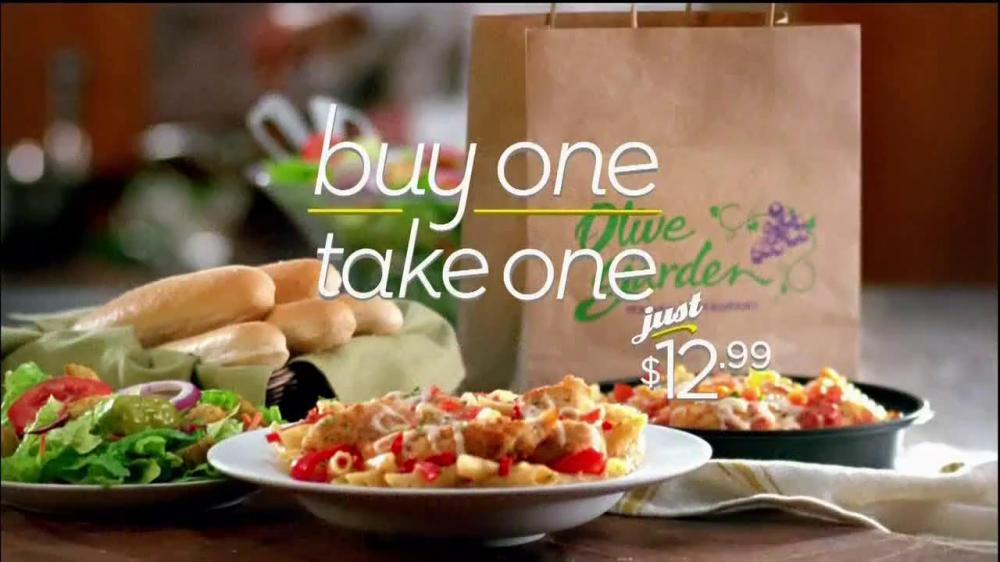 Olive garden buy one take one home meals for for Take me to the nearest olive garden