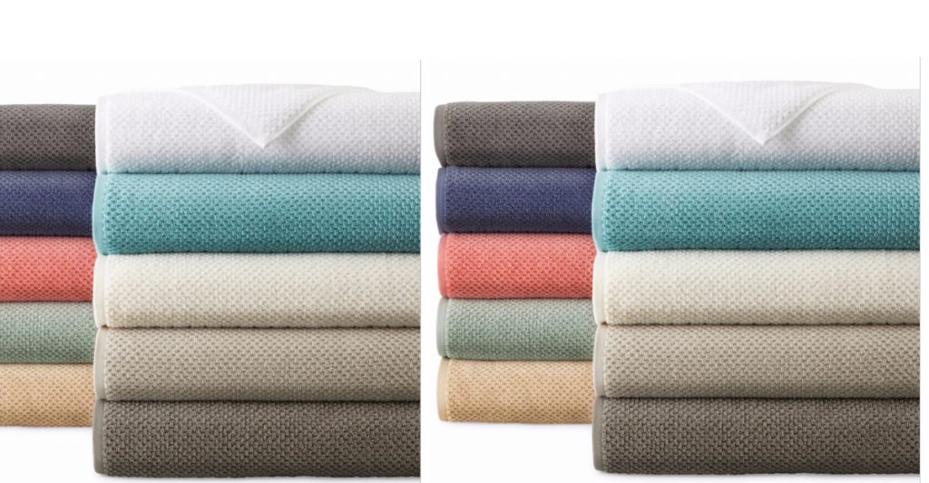 Highly Rated JCPenney Home Quick Dri Textured Solid Bath Towels ...