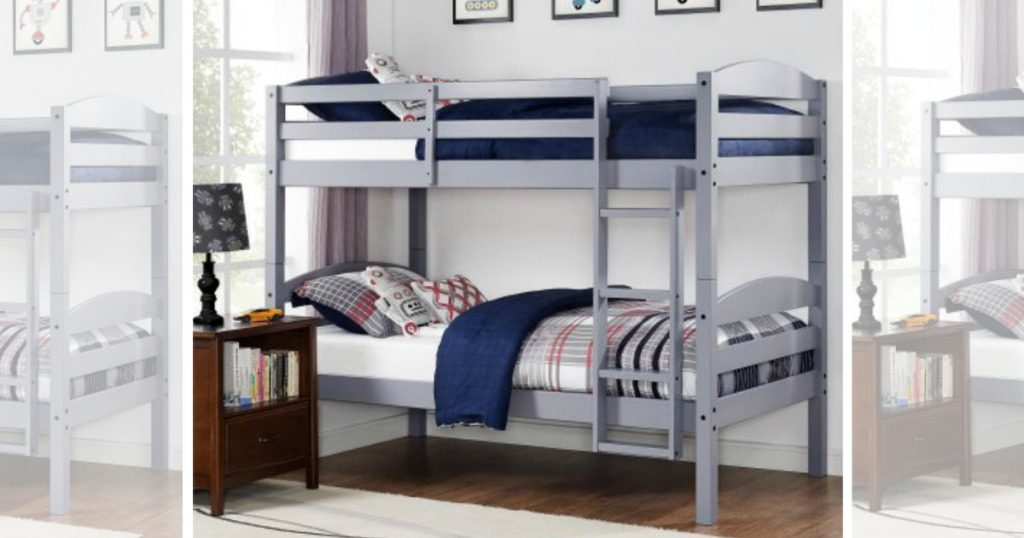 Hurry Wood Bunk Bed Set Two Twin Mattresses Only 189 Shipped