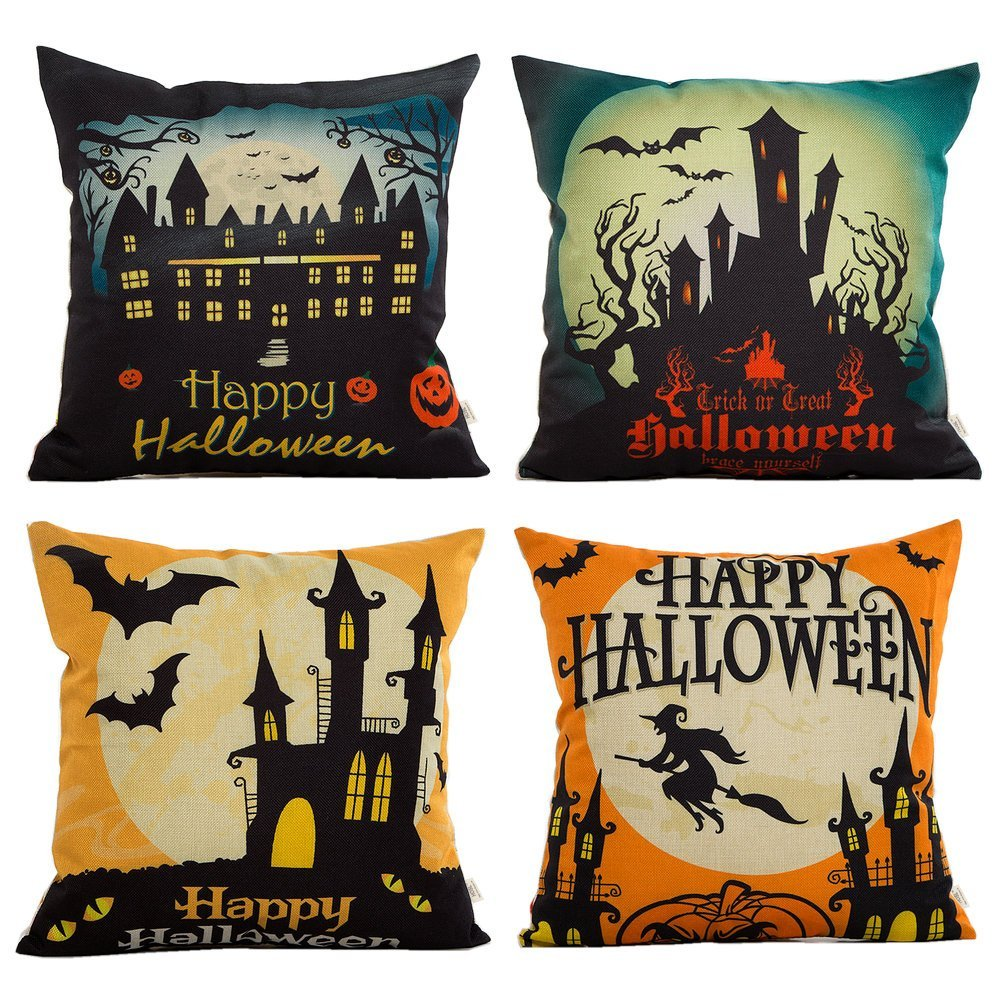 Amazon Highly Rated 4 Pack Halloween Burlap Decorative