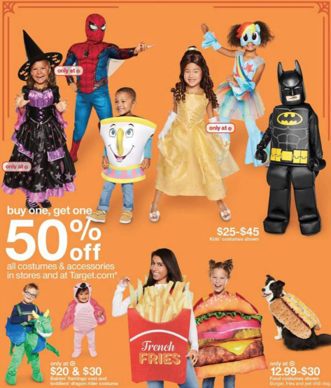 Target Shoppers – Buy 1, Get 1 50% off All Halloween Costumes ...