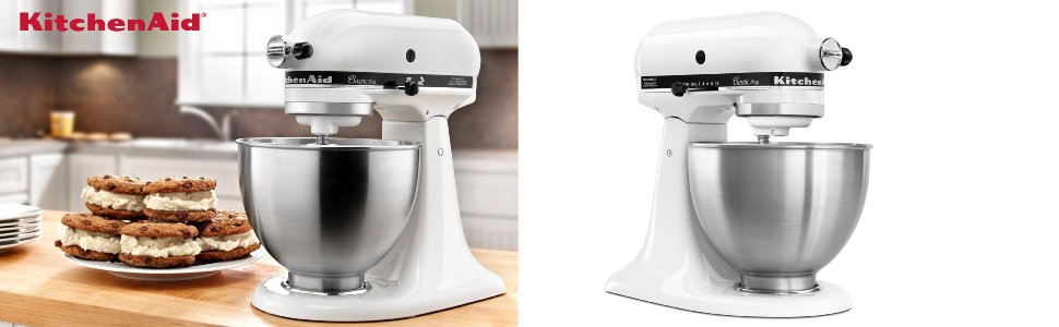 Kitchenaid Classic White Mixer. kitchenaid 3 speed hand mixer khm3 ...