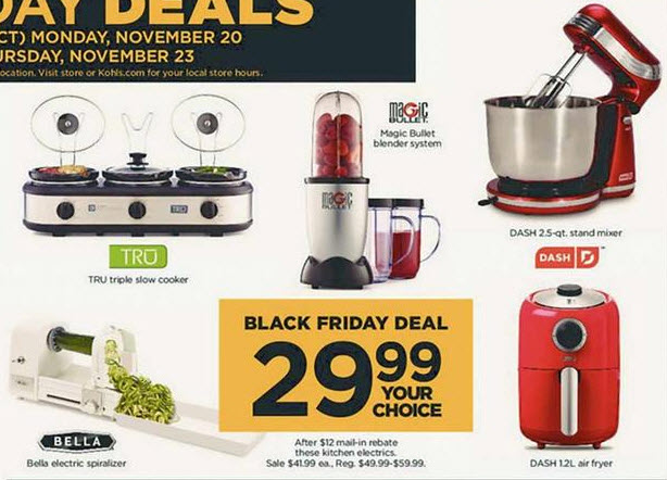 Kohl's Black Friday is Live: 5 Select Kitchen Electric Appliances
