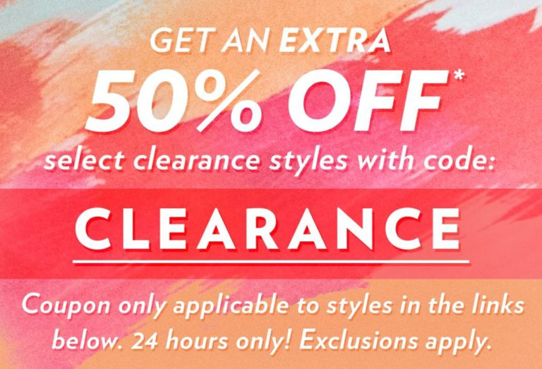 d164b4cbe24 6pm: RARE Extra 50% Off Clearance – Clothing & Shoes from $4 + Free Shipping