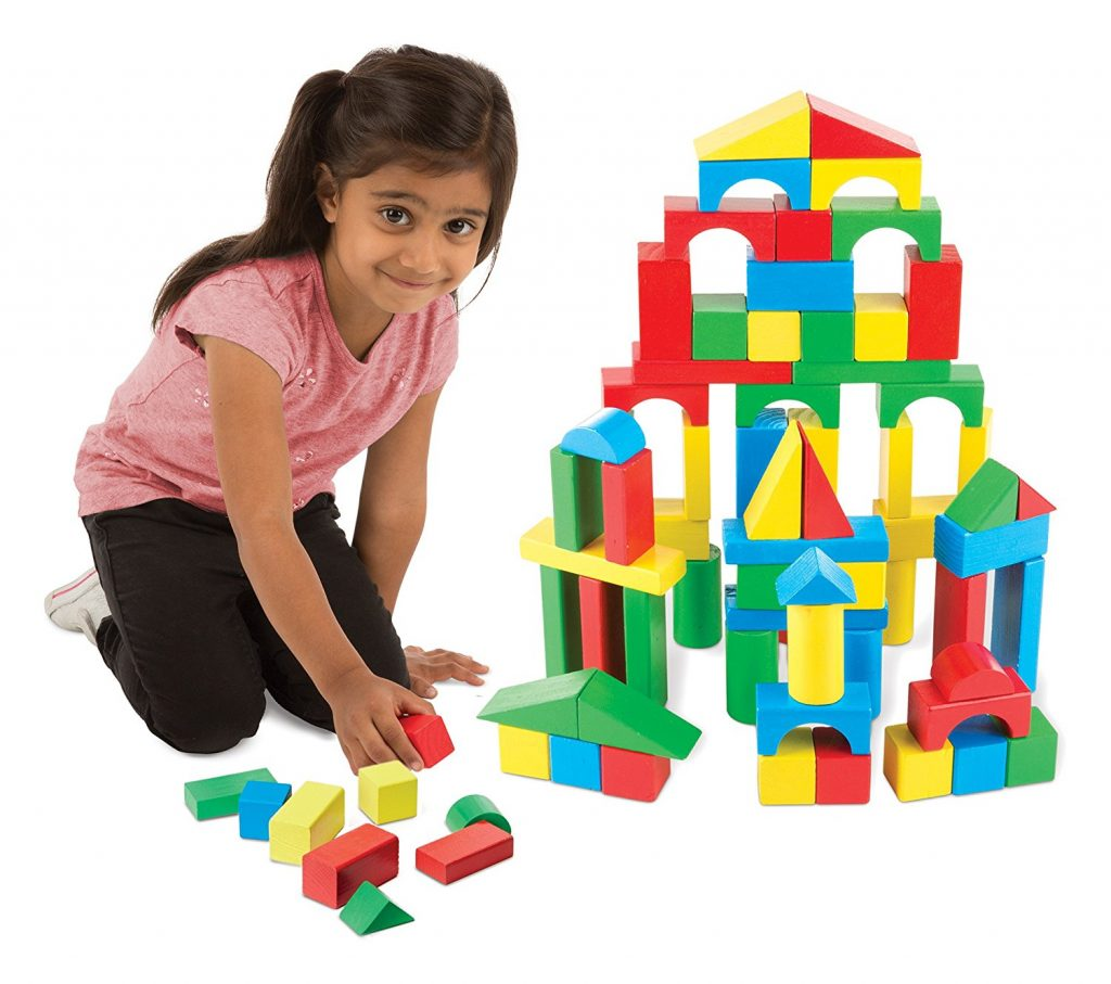 Amazon Low Price: Melissa & Doug Wooden Building Blocks