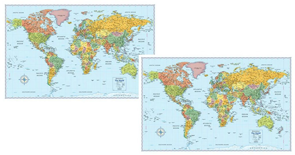 Amazon lowest price rand mcnally signature map of the world 50 x right now on amazon you can grab this rand mcnally signature map of the world 50 x 32 inch at its lowest price ever this would be great to have around gumiabroncs Choice Image
