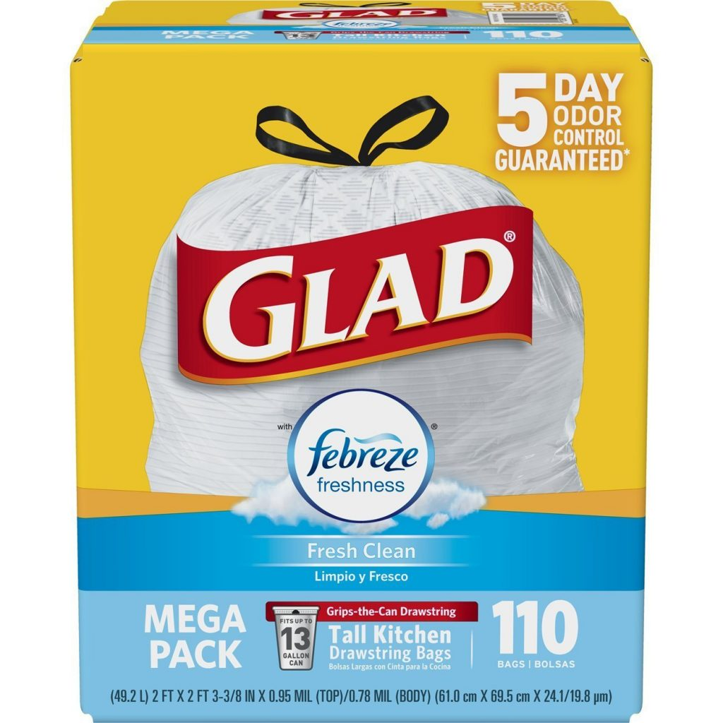 Amazon Low Price Glad Odorshield Tall Kitchen Drawstring Trash Bags 110 Count