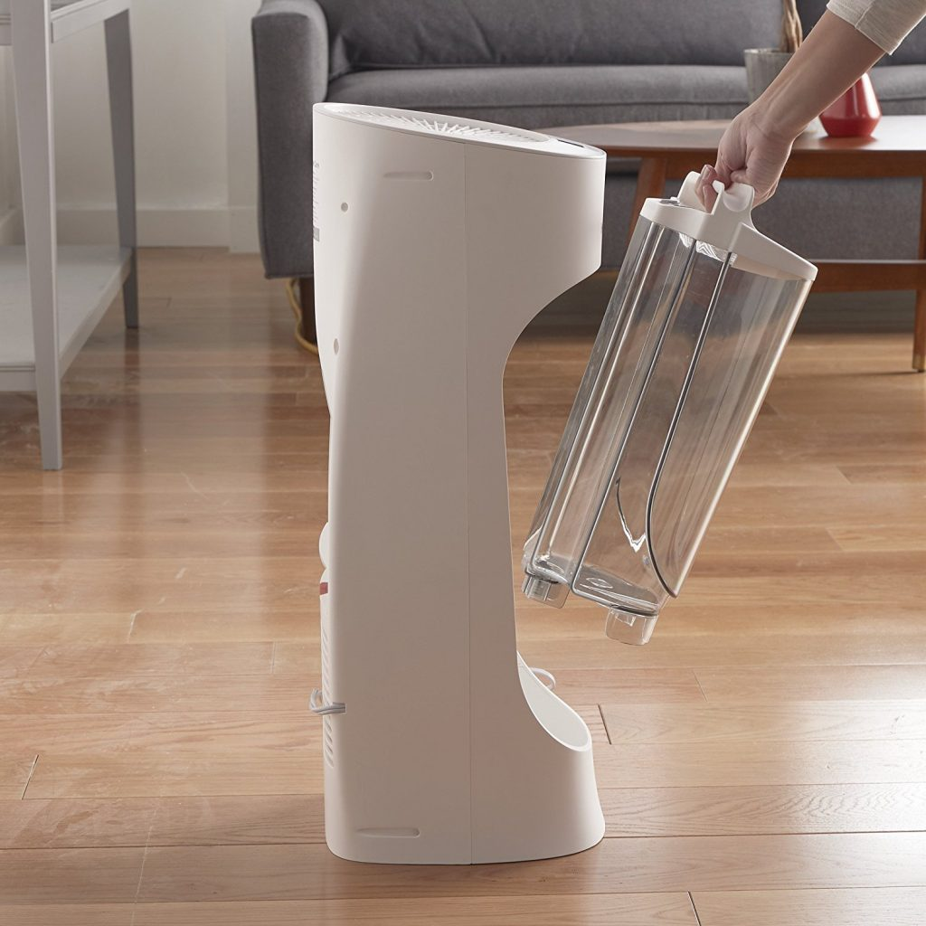 Honeywell Top Fill Tower Humidifier with Humidistat White