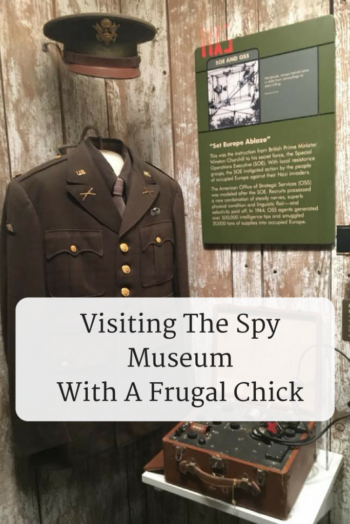 Visiting The Spy Museum in Washington DC With A Frugal Chick- Check out my tips on visiting The Spy Museum.  And why you probably shouldn't visit until the end of 2018.